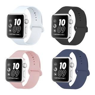 【kingkong】Apple Watch 1/2/3/4 純色硅膠 運動型錶帶腕帶(iWatch替換錶帶)