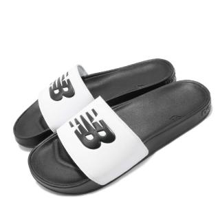 【NEW BALANCE】拖鞋 SMF200F1 D 休閒 男女鞋 紐巴倫 情侶鞋 基本款LOGO 輕便 白黑(SMF200F1D)