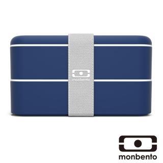 【MONBENTO】雙層餐盒-海軍藍(MB-120002129)