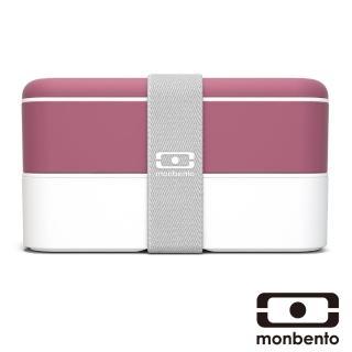 【MONBENTO】雙層餐盒-玫瑰豆沙色(MB-120002126)