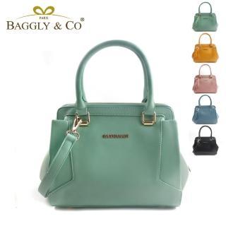 【BAGGLY&CO】瑞麗卡漾彩大開口手提側背包(五色)