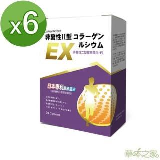 【草本之家】日本非變性二型膠原蛋白+鈣30粒X6盒(MSM、檸檬酸鈣、珊瑚鈣、膠原蛋白)
