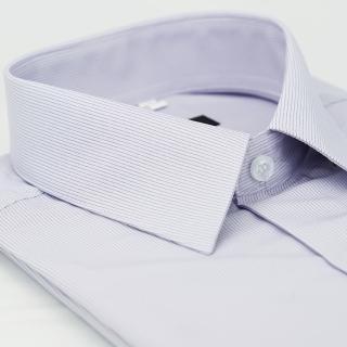【金安德森】紫色黑細紋吸排窄版短袖襯衫-fast