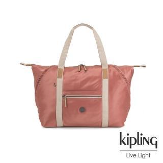 【KIPLING】城市探索玫瑰粉手提側背包-ART M-EDGELAND系列