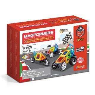 【Magformers】磁性建構片-車輪變變變(2019新品上市)