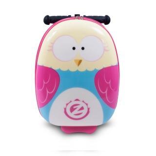 【Zinc Flyte】18吋多功能滑板車行李箱-奧莉維亞貓頭鷹(滑板車、行李箱)