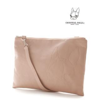 【CRYSTAL BALL】Leather 2way clutch bag手拿包(狗頭包)