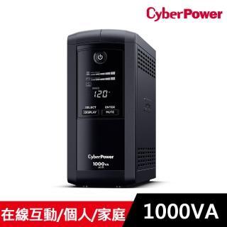 【CyberPower】1000VA在線互動式不斷電系統(CP1000AVRLCDA)
