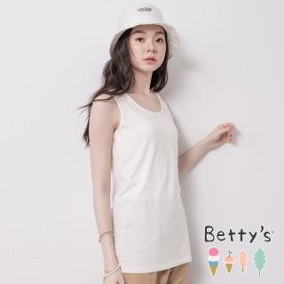 【betty's 貝蒂思】圓領後印花素色背心(白色)