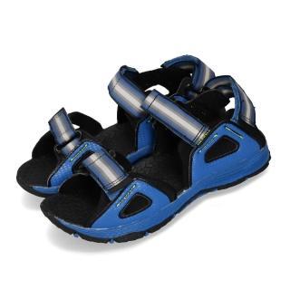 【MERRELL】涼鞋 Hydro Blaze 戶外運動 童鞋 多功能 魔鬼氈 透氣 耐磨 郊遊踏青 大童 藍黑(MK260862)