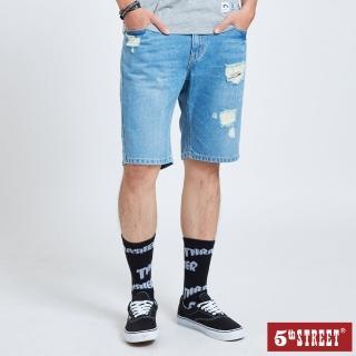 【5th STREET】男牛仔短褲-石洗綠