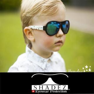 【瑞士SHADEZ】兒童太陽眼鏡 黑白車車 7-15歲(台灣製造 鏡架可彎)