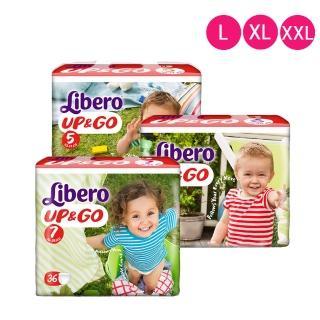 箱購-【麗貝樂敢動褲】歐洲原裝進口嬰兒紙尿布 褲型 超值4包組(5號/6號/7號)