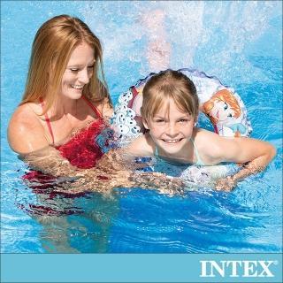 【INTEX】冰雪奇緣ELSA-游泳圈51cm_適用3-6歲(56201)