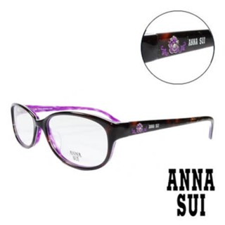 【ANNA SUI 安娜蘇】經典薔薇造型眼鏡-琥珀(AS620-152)