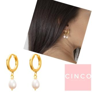 【CINCO】葡萄牙精品 CINCO Claire earrings 24K金耳環 迷你珍珠耳環(925純銀24K金)
