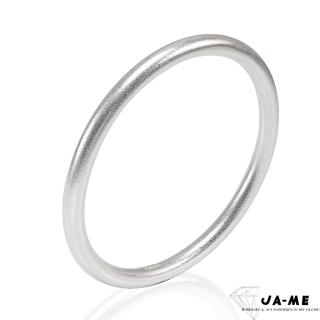 【xmono】999千足銀古法製銀簡約圓骨手鐲(原銀色)