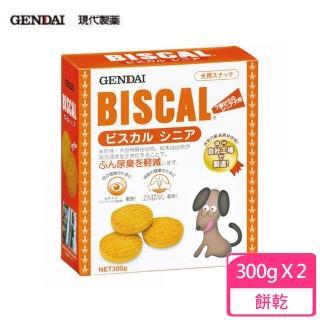 【GENDAI 現代】BISCAL 必吃客機能性消臭餅乾-熟齡犬專用 300g(2入組)