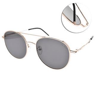【PAUL HUEMAN】時尚潮流雙槓款眼鏡(玫瑰金-灰鏡片#PHS916A C11)