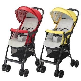 【Aprica 愛普力卡】Magical air Plus 挑高型超輕量單向嬰幼兒手推車(蘋果紅/檸檬黃)