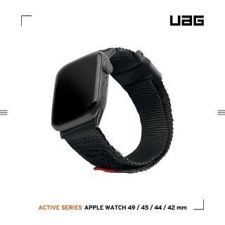 【UAG】Apple Watch 42/44mm 時尚錶帶-黑(UAG)