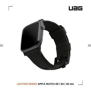 【UAG】Apple Watch 42/44mm 皮革錶帶- 黑(UAG)