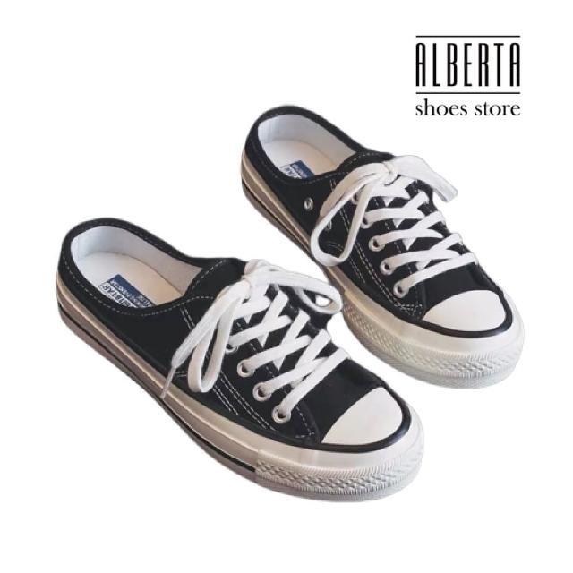 【Alberta】休閒鞋-帆布鞋面