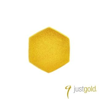 【Just Gold 鎮金店】搖滾蜂格純金系列 黃金單耳耳環(單粒-純金)