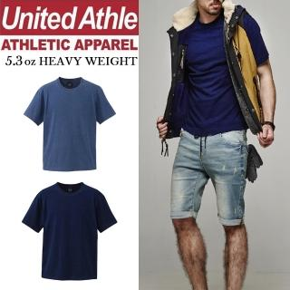 【United Athle】日本United Athle橫條紋T恤 INDIGO丹寧藍染UA(條紋MIX丹寧)