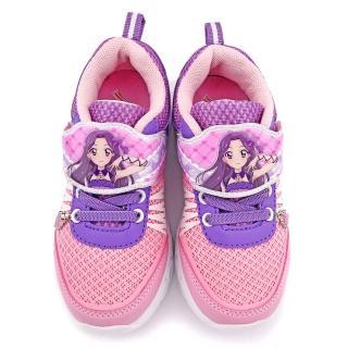 【童鞋城堡】偶像學園 中大童 輕量透氣炫彩鞋底LED燈鞋(ID5230-粉)