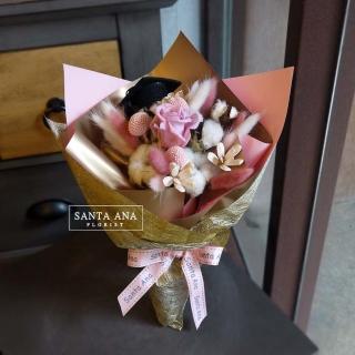 【Santa Ana】粉紅畢業季乾燥花束(純手工乾燥花束組合)