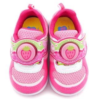 【童鞋城堡】粉紅豬小妹 佩佩豬 中童 草莓造型電燈運動鞋(PG6421-粉)