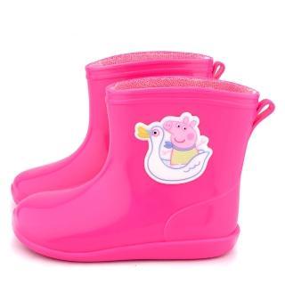 【童鞋城堡】粉紅豬小妹 珮珮豬 中童 小天鵝短筒雨鞋(PG8561-桃)