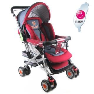 【S-Baby】五點式安全帶雙向加寬推車(兩色可選)