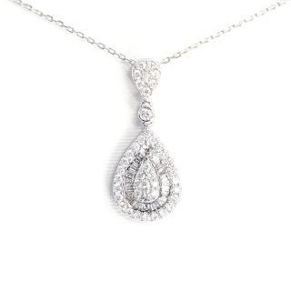 【光彩鑽石】水滴鑽石項鍊