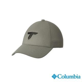 【Columbia 哥倫比亞】男女款- 鈦 LOGO棒球帽-灰色(UCU01240GY / 休閒.踏青.戶外)