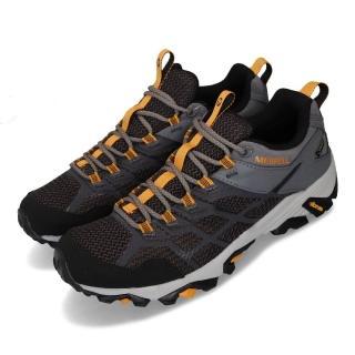【MERRELL】戶外鞋 Moab FST 2 GTX 男鞋 登山 越野 防水 抗菌防臭 耐磨黃金大底 黑 黃(ML84945)