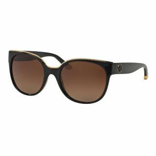 【TORY BURCH】名模look歐美風黑色琥珀大框太陽眼鏡(TY9042)