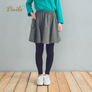 【Dailo】條紋假兩件內搭-裙褲(三色)