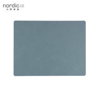 【北歐櫥窗】LIND DNA NUPO 皮革餐墊(方形、淺藍)
