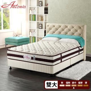 【Antonia】奢華清爽  獨立筒床墊-雙人加大6尺(高蓬度+涼感紗+荷蘭馬鬃+乳膠)