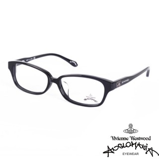 【Vivienne Westwood】ANGLO MANIA系列-英倫龐克黑框方塊土星環光學眼鏡(AN249-01-黑)