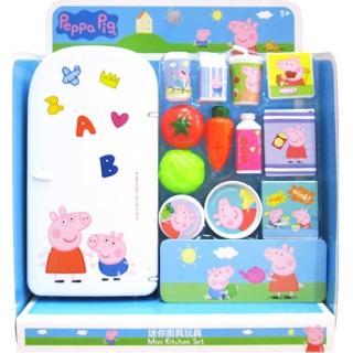 【TDL】粉紅豬小妹佩佩豬冰箱玩具家家酒玩具組 011380