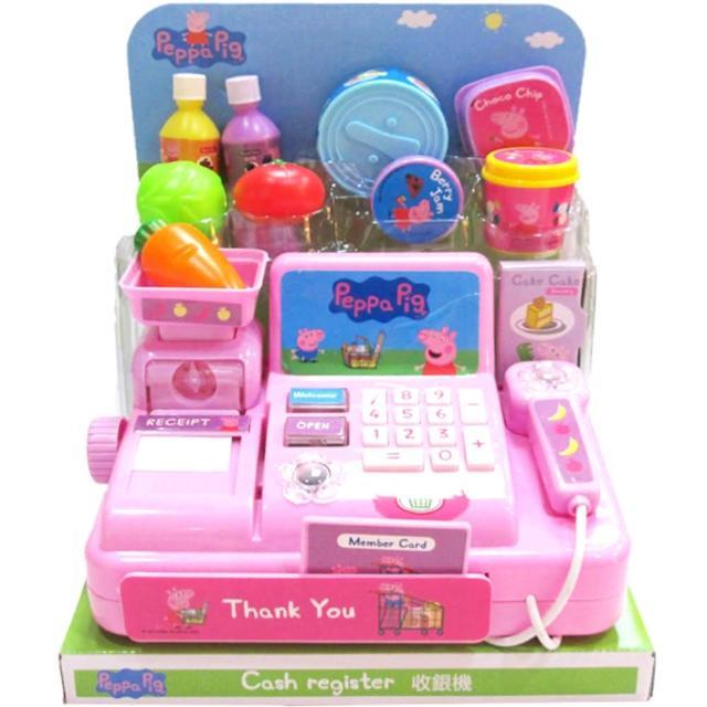 【TDL】粉紅豬小妹佩佩豬收銀機玩具家家酒玩具組聲光效果 011861