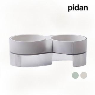 【pidan】雙碗食盆 寵物碗 狗碗 貓碗 餵食容器 食物盆(好事成雙 吃出好滋味)