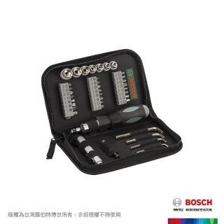 【BOSCH 博世】38件多功能配件組(棘輪起子頭、六角扳手、迷你手電筒)