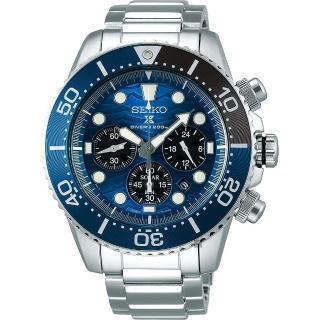 【SEIKO 精工】PROSPEX 愛海洋 特別版大白鯊太陽能計時錶(V175-0EV0B  SSC741P1)