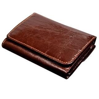 【H-CT】亮面錢包設計真皮口袋包/棕(WT1988C)