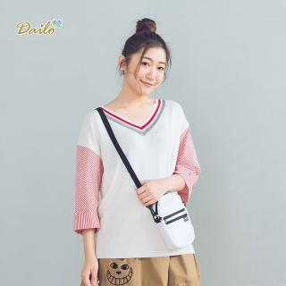 【Dailo】運動造型條紋-針織衫(三色)