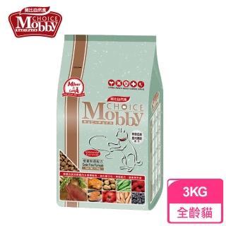 【Mobby 莫比】無穀成貓配方 鹿肉鮭魚 3kg(無穀貓飼料)